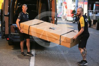 World © Octane Photographic Ltd. Formula 1 – German GP - Paddock. Renault Sport F1 Team receive parts for the car. Hockenheimring, Hockenheim, Germany. Thursday 25th July 2019.