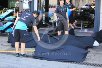 World © Octane Photographic Ltd. Formula 1 – German GP  - Paddock.  Williams receive items for the car. Hockenheimring, Hockenheim, Germany. Thursday 25th July 2019.