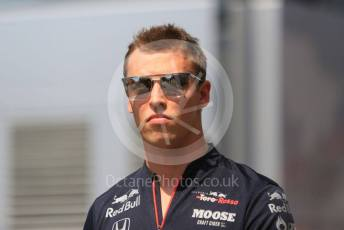 World © Octane Photographic Ltd. Formula 1 – German GP - Paddock. Scuderia Toro Rosso STR14 – Daniil Kvyat. Hockenheimring, Hockenheim, Germany. Thursday 25th July 2019.