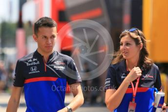 World © Octane Photographic Ltd. Formula 1 – German GP - Paddock. Scuderia Toro Rosso STR14 – Alexander Albon. Hockenheimring, Hockenheim, Germany. Thursday 25th July 2019.