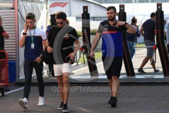 World © Octane Photographic Ltd. Formula 1 – German GP - Paddock. Scuderia Ferrari SF90 – Charles Leclerc and brother Arthur Leclerc. Hockenheimring, Hockenheim, Germany. Thursday 25th July 2019.