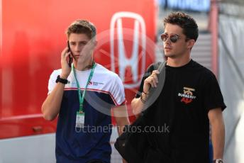 World © Octane Photographic Ltd. Formula 1 – German GP  - Paddock. Scuderia Ferrari SF90 – Charles Leclerc and brother Arthur Leclerc. Hockenheimring, Hockenheim, Germany. Thursday 25th July 2019.