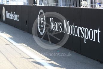 World © Octane Photographic Ltd. Formula 1 – German GP - Paddock. Mercedes 125 years in motorsport. Hockenheimring, Hockenheim, Germany. Thursday 25th July 2019.