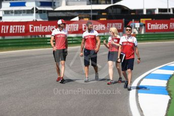 World © Octane Photographic Ltd. Formula 1 – German GP  - Track Walk. Alfa Romeo Racing C38 – Antonio Giovinazzi. Hockenheimring, Hockenheim, Germany. Thursday 25th July 2019.