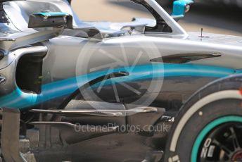 World © Octane Photographic Ltd. Formula 1 – Hungarian GP - Pitlane. Mercedes AMG Petronas Motorsport AMG F1 W10 EQ Power+. Hungaroring, Budapest, Hungary. Thursday 1st August 2019.