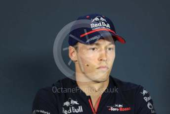 World © Octane Photographic Ltd. Formula 1 – Hungarian GP. FIA Drivers Press Conference. Scuderia Toro Rosso – Daniil Kvyat. Hungaroring, Budapest, Hungary. Thursday 1st August 2019.