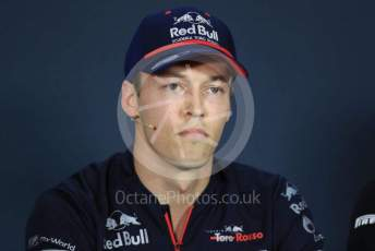 World © Octane Photographic Ltd. Formula 1 – Hungarian GP. FIA Drivers Press Conference. Scuderia Toro Rosso – Daniil Kvyat. Hungaroring, Budapest, Hungary. Thursday 1st August 2019.