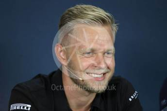 World © Octane Photographic Ltd. Formula 1 – Hungarian GP. FIA Drivers Press Conference. Rich Energy Haas F1 Team – Kevin Magnussen. Hungaroring, Budapest, Hungary. Thursday 1st August 2019.