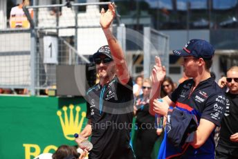 World © Octane Photographic Ltd. Formula 1 – Hungarian GP - Drivers Parade. ROKiT Williams Racing FW42 – Robert Kubica and Scuderia Toro Rosso STR14 – Daniil Kvyat. Hungaroring, Budapest, Hungary. Sunday 4th August 2019.