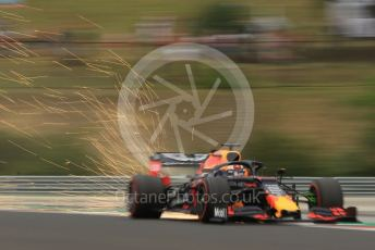 World © Octane Photographic Ltd. Formula 1 – Hungarian GP - Practice 1. Aston Martin Red Bull Racing RB15 – Max Verstappen. Hungaroring, Budapest, Hungary. Friday 2nd August 2019.