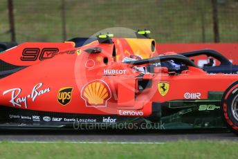 World © Octane Photographic Ltd. Formula 1 – Hungarian GP - Practice 1. Scuderia Ferrari SF90 – Charles Leclerc and Aston Martin Red Bull Racing RB15 – Pierre Gasly. Hungaroring, Budapest, Hungary. Friday 2nd August 2019.