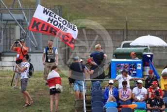 World © Octane Photographic Ltd. Formula 1 – Hungarian GP - Practice 1. ROKiT Williams Racing FW42 – Robert Kubica fans. Hungaroring, Budapest, Hungary. Friday 2nd August 2019.