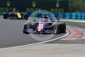 World © Octane Photographic Ltd. Formula 1 – Hungarian GP - Qualifying. SportPesa Racing Point RP19 - Sergio Perez. Hungaroring, Budapest, Hungary. Saturday 3rd August 2019.