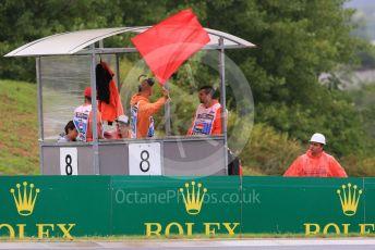 World © Octane Photographic Ltd. FIA Formula 2 (F2) – Hungarian GP - Qualifying. Red Flag waving. Hungaroring, Budapest, Hungary. Friday 2nd August 2019