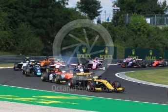 World © Octane Photographic Ltd. FIA Formula 2 (F2) – Hungarian GP - Race 1. Virtuosi Racing - Guanyu Zhou. Hungaroring, Budapest, Hungary. Saturday 3rd August 2019.
