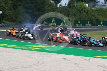 World © Octane Photographic Ltd. FIA Formula 2 (F2) – Hungarian GP - Race 1. DAMS - Sergio Sette Camara in the midfield pack. Hungaroring, Budapest, Hungary. Saturday 3rd August 2019.