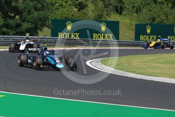 World © Octane Photographic Ltd. FIA Formula 2 (F2) – Hungarian GP - Race 1. DAMS - Nicholas Latifi and ART Grand Prix - Nyck de Vries. Hungaroring, Budapest, Hungary. Saturday 3rd August 2019.