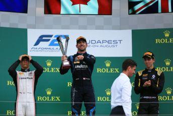 World © Octane Photographic Ltd. FIA Formula 2 (F2) – Hungarian GP - Race 1. DAMS - Nicholas Latifi, ART Grand Prix - Nyck de Vries and Campos Racing - Jack Aitken. Hungaroring, Budapest, Hungary. Saturday 3rd August 2019.