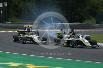 World © Octane Photographic Ltd. FIA Formula 3 (F3) – Hungarian GP – Race 1. Carlin Buzz Racing - Logan Sargeant and Teppei Natori. Hungaroring, Budapest, Hungary. Saturday 3rd August 2019.