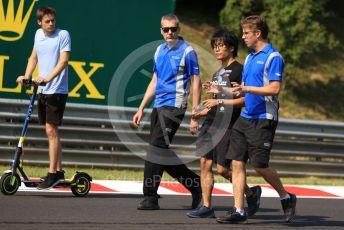 World © Octane Photographic Ltd. FIA Formula 2 (F2) – Hungarian GP - Trackwalk. Carlin - Louis Deletraz and Nobuharu Matsushita. Hungaroring, Budapest, Hungary. Thursday 1st August 2019