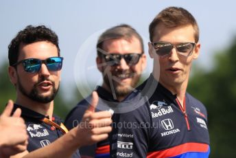 World © Octane Photographic Ltd. Formula 1 – Hungarian GP - Trackwalk. Scuderia Toro Rosso STR14 – Daniil Kvyat. Hungaroring, Budapest, Hungary. Thursday 1st August 2019.