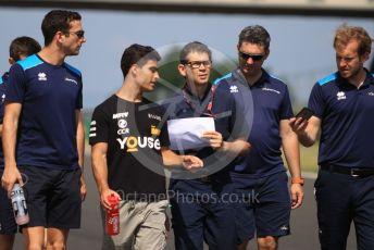 World © Octane Photographic Ltd. FIA Formula 2 (F2) – Hungarian GP - Trackwalk. DAMS - Nicholas Latifi and Sergio Sette Camara. Hungaroring, Budapest, Hungary. Thursday 1st August  2019.