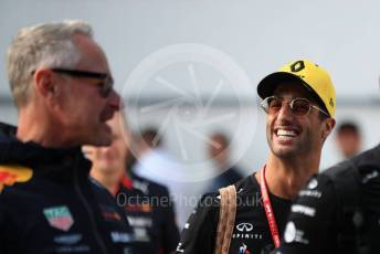 World © Octane Photographic Ltd. Formula 1 – Hungarian GP - Paddock. Renault Sport F1 Team RS19 – Daniel Ricciardo. Hungaroring, Budapest, Hungary. Saturday 3rd August 2019.