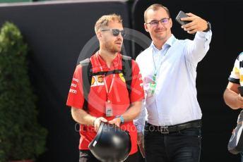 World © Octane Photographic Ltd. Formula 1 – Hungarian GP - Paddock. Scuderia Ferrari SF90 – Sebastian Vettel. Hungaroring, Budapest, Hungary. Saturday 3rd August 2019.