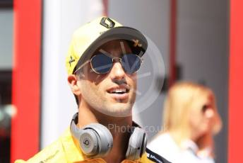 World © Octane Photographic Ltd. Formula 1 – Hungarian GP - Paddock. Renault Sport F1 Team RS19 – Daniel Ricciardo. Hungaroring, Budapest, Hungary. Sunday 4th August 2019.