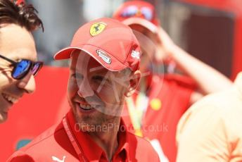 World © Octane Photographic Ltd. Formula 1 – Hungarian GP - Paddock. Scuderia Ferrari SF90 – Sebastian Vettel. Hungaroring, Budapest, Hungary. Sunday 4th August 2019.