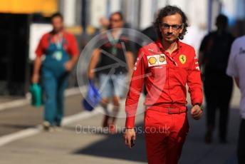 World © Octane Photographic Ltd. Formula 1 - Hungarian GP - Paddock. Laurent Mekies – Sporting Director of Scuderia Ferrari. Hungaroring, Budapest, Hungary. Sunday 4th August 2019.