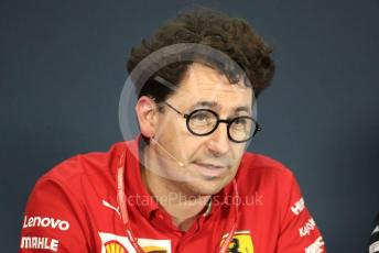 World © Octane Photographic Ltd. Formula 1 - Hungarian GP – Friday FIA Team Press Conference. Mattia Binotto – Team Principal of Scuderia Ferrari. Hungaroring, Budapest, Hungary. Friday 2nd August 2019.