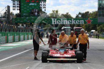 World © Octane Photographic Ltd. Formula 1 – Italian GP - Drivers Parade. Jody Scheckter. Autodromo Nazionale Monza, Monza, Italy. Sunday 8th September 2019.