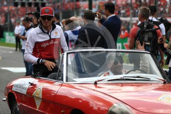 World © Octane Photographic Ltd. Formula 1 – Italian GP - Drivers Parade. Alfa Romeo Racing C38 – Antonio Giovinazzi. Autodromo Nazionale Monza, Monza, Italy. Sunday 8th September 2019.