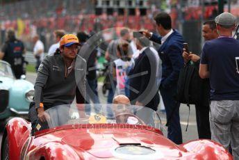 World © Octane Photographic Ltd. Formula 1 – Italian GP - Drivers Parade. McLaren MCL34 – Carlos Sainz. Autodromo Nazionale Monza, Monza, Italy. Sunday 8th September 2019.