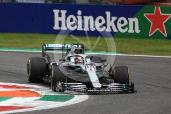 World © Octane Photographic Ltd. Formula 1 – Italian GP - Practice 2. Mercedes AMG Petronas Motorsport AMG F1 W10 EQ Power+ - Lewis Hamilton. Autodromo Nazionale Monza, Monza, Italy. Friday 6th September 2019.