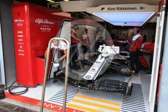 World © Octane Photographic Ltd. Formula 1 – Italian GP - Practice 3. Alfa Romeo Racing C38 – Kimi Raikkonen. Autodromo Nazionale Monza, Monza, Italy. Saturday 7th September 2019.