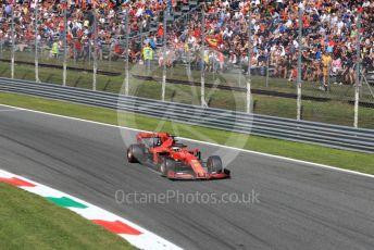 World © Octane Photographic Ltd. Formula 1 – Italian GP - Qualifying. Scuderia Ferrari SF90 – Sebastian Vettel. Autodromo Nazionale Monza, Monza, Italy. Saturday 7th September 2019.