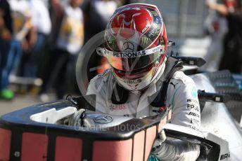World © Octane Photographic Ltd. Formula 1 – Italian GP - Race Podium. Mercedes AMG Petronas Motorsport AMG F1 W10 EQ Power+ - Lewis Hamilton. Autodromo Nazionale Monza, Monza, Italy. Sunday 8th September 2019.