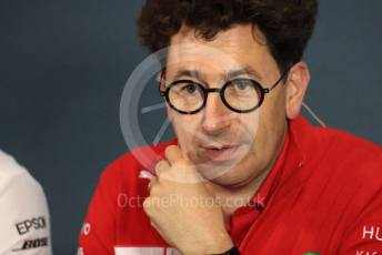 World © Octane Photographic Ltd. Formula 1 - Italian GP – Friday FIA Team Press Conference. Mattia Binotto – Team Principal of Scuderia Ferrari. Autodromo Nazionale Monza, Monza, Italy. Friday 6th September 2019.