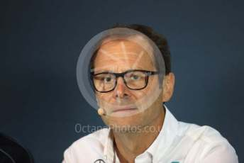World © Octane Photographic Ltd. Formula 1 -Italian GP - Friday FIA Team Press Conference.  Aldo Costa - Engineering Director of Mercedes - AMG Petronas Motorsport. Autodromo Nazionale Monza, Monza, Italy. Friday 6th September 2019.