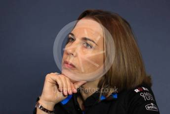 World © Octane Photographic Ltd. Formula 1 - Italian GP - Friday FIA Team Press Conference. Claire Williams - Deputy Team Principal of ROKiT Williams Racing. Autodromo Nazionale Monza, Monza, Italy. Friday 6th September 2019.