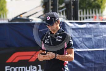 World © Octane Photographic Ltd. Formula 1 – Italian GP - Paddock. SportPesa Racing Point RP19 – Lance Stroll. Autodromo Nazionale Monza, Monza, Italy. Saturday 7th September 2019.