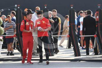 World © Octane Photographic Ltd. Formula 1 – Italian GP - Paddock. Scuderia Ferrari SF90 – Charles Leclerc. Autodromo Nazionale Monza, Monza, Italy. Saturday 7th September 2019.