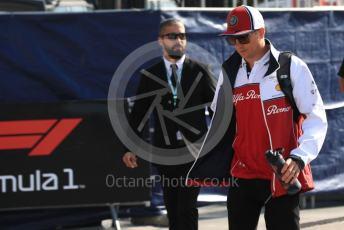 World © Octane Photographic Ltd. Formula 1 – Italian GP - Paddock. Alfa Romeo Racing C38 – Kimi Raikkonen. Autodromo Nazionale Monza, Monza, Italy. Saturday 7th September 2019.