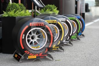 World © Octane Photographic Ltd. Formula 1 – Italian GP - Paddock. Pirelli tyre selection. Autodromo Nazionale Monza, Monza, Italy. Thursday 4th September 2019.