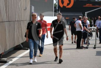 World © Octane Photographic Ltd. Formula 1 – Italian GP - Paddock. Rich Energy Haas F1 Team VF19 – Kevin Magnussen. Autodromo Nazionale Monza, Monza, Italy. Thursday 4th September 2019.