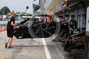 World © Octane Photographic Ltd. Formula 1 – Italian GP - Paddock. Rich Energy Haas F1 Team VF19. Autodromo Nazionale Monza, Monza, Italy. Thursday 4th September 2019.
