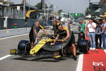 World © Octane Photographic Ltd. Formula 1 – Italian GP - Pit Lane. Renault Sport F1 Team RS19 – Nico Hulkenberg. Autodromo Nazionale Monza, Monza, Italy. Thursday 4th September 2019.