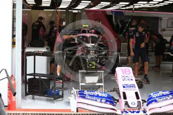 World © Octane Photographic Ltd. Formula 1 – Italian GP - Pit lane. SportPesa Racing Point RP19. Autodromo Nazionale Monza, Monza, Italy. Thursday 4th September 2019.